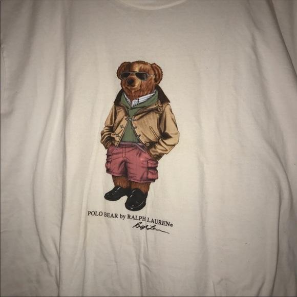 117455bf6102a POLO Ralph Lauren Vintage Teddy Tee. M 5a93597985e60583ecb74ce3